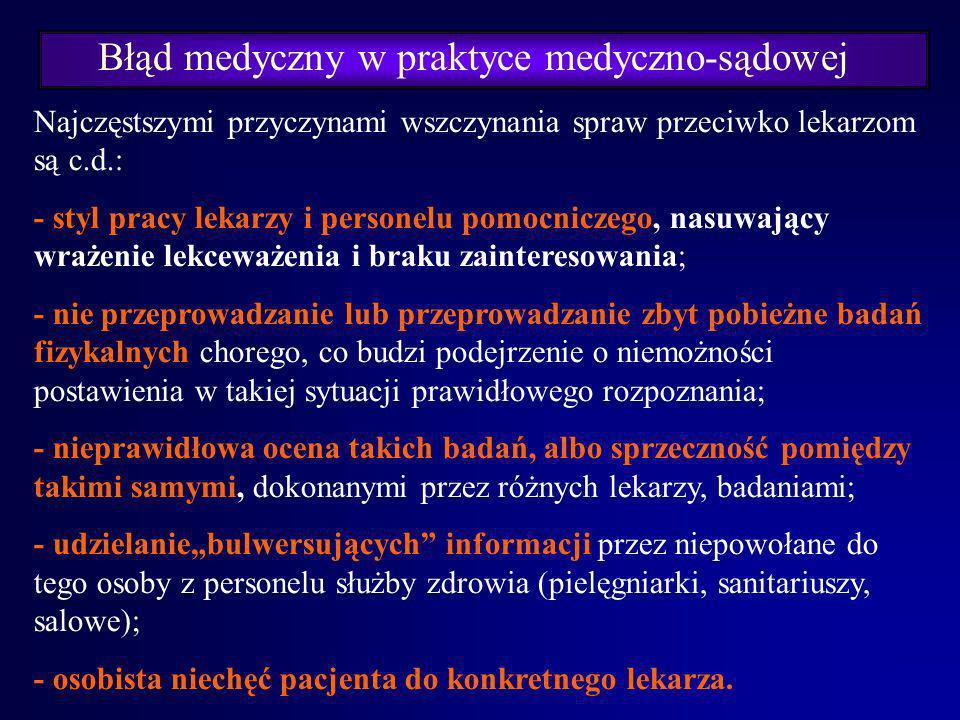 Błąd medyczny w praktyce medyczno-sądowej