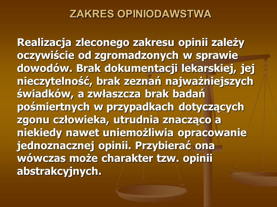 ZAKRES OPINIODAWSTWA