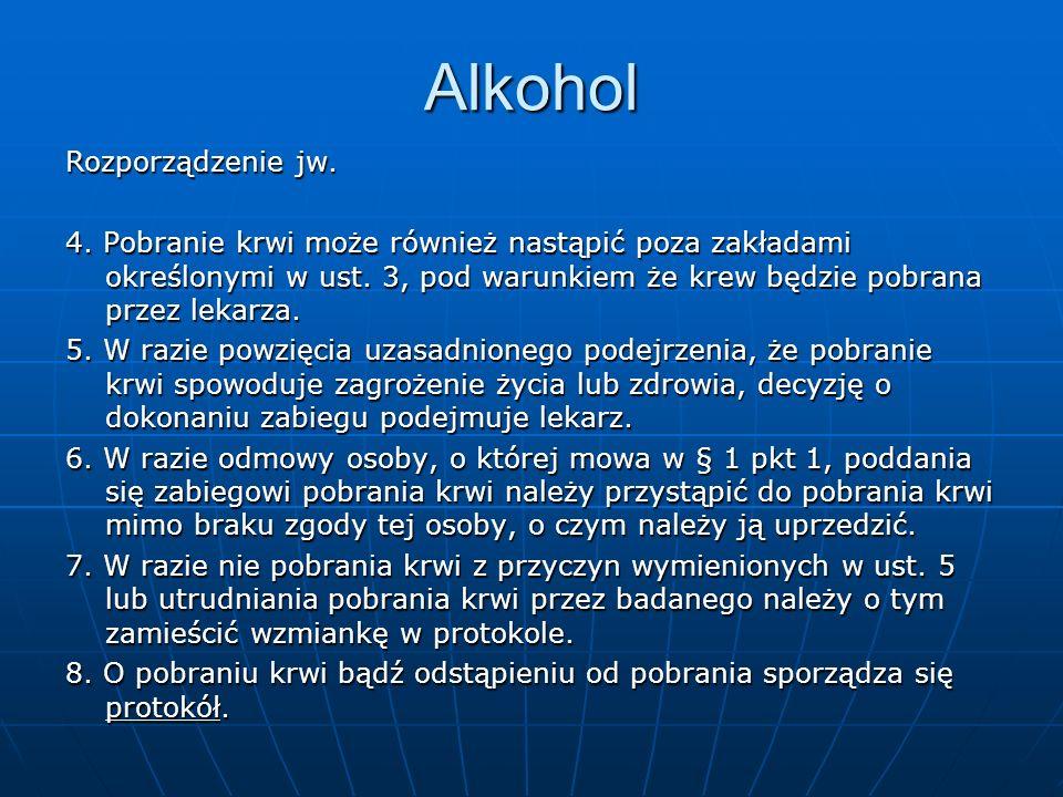 Alkohol Rozporządzenie jw.