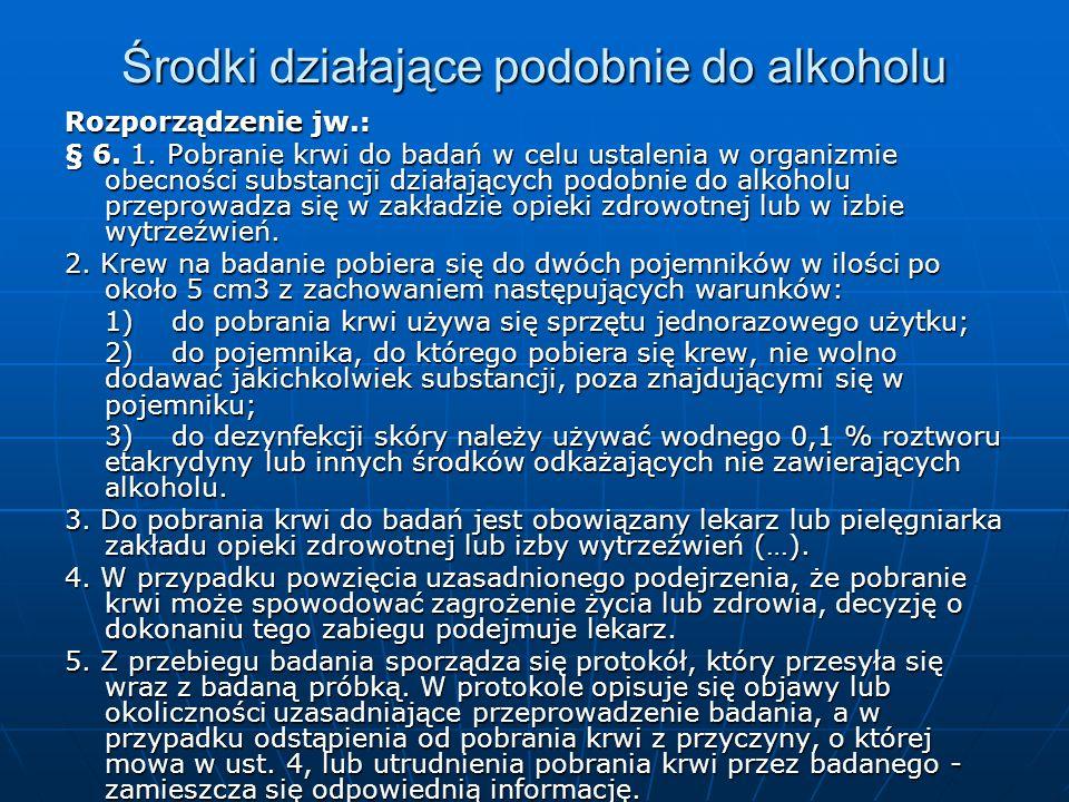 Środki działające podobnie do alkoholu