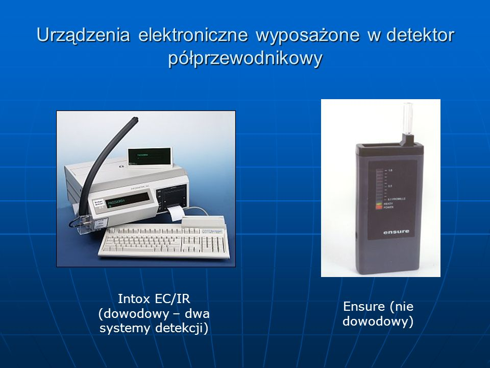Urządzenia elektroniczne wyposażone w detektor półprzewodnikowy