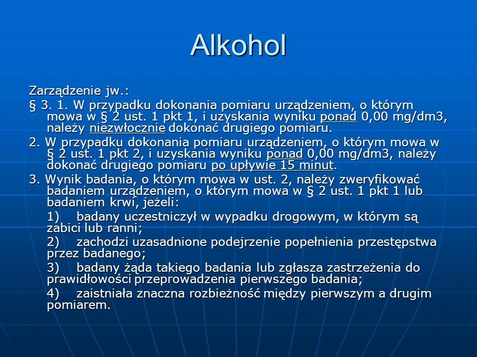 Alkohol Zarządzenie jw.: