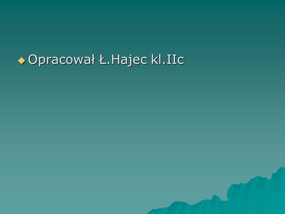 Opracował Ł.Hajec kl.IIc