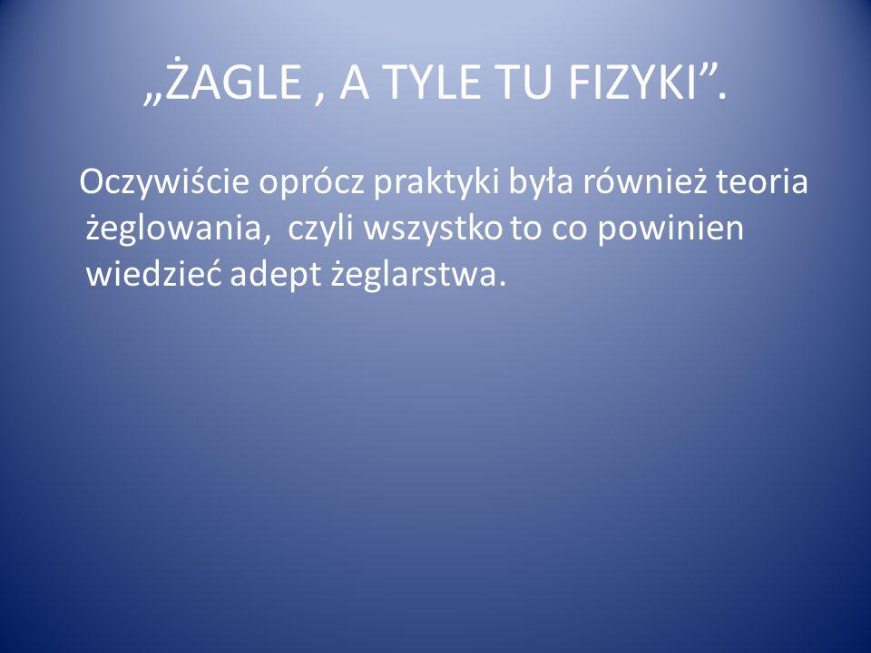 """""""ŻAGLE , A TYLE TU FIZYKI ."""
