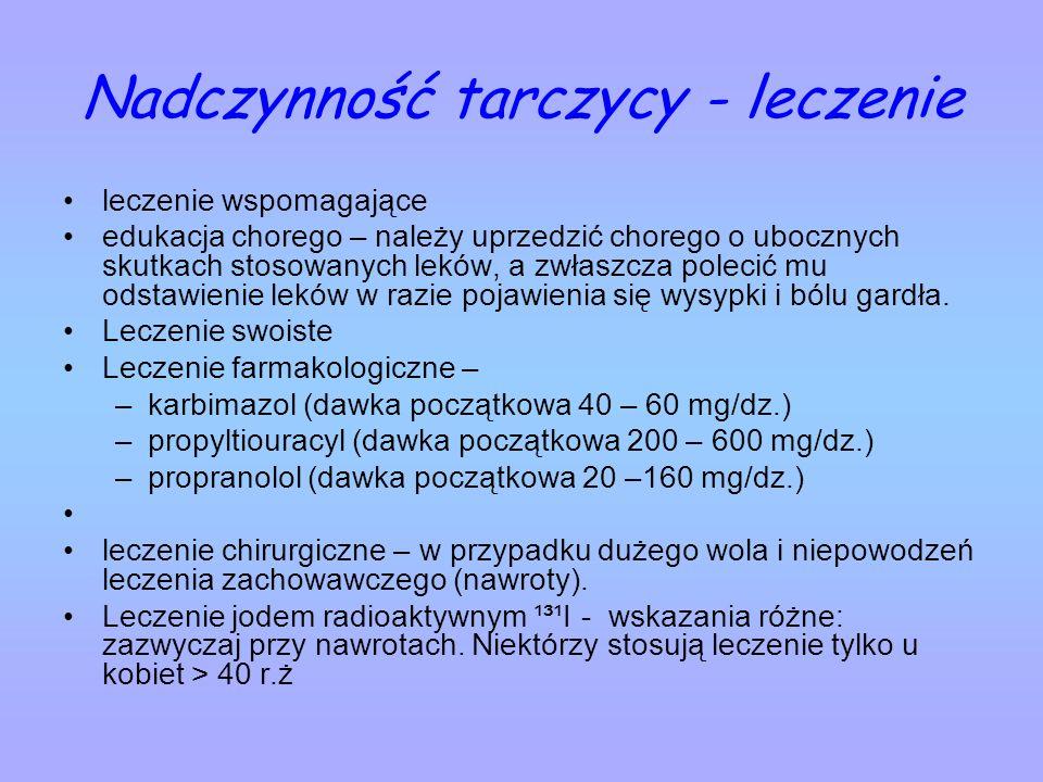 Nadczynność tarczycy - leczenie