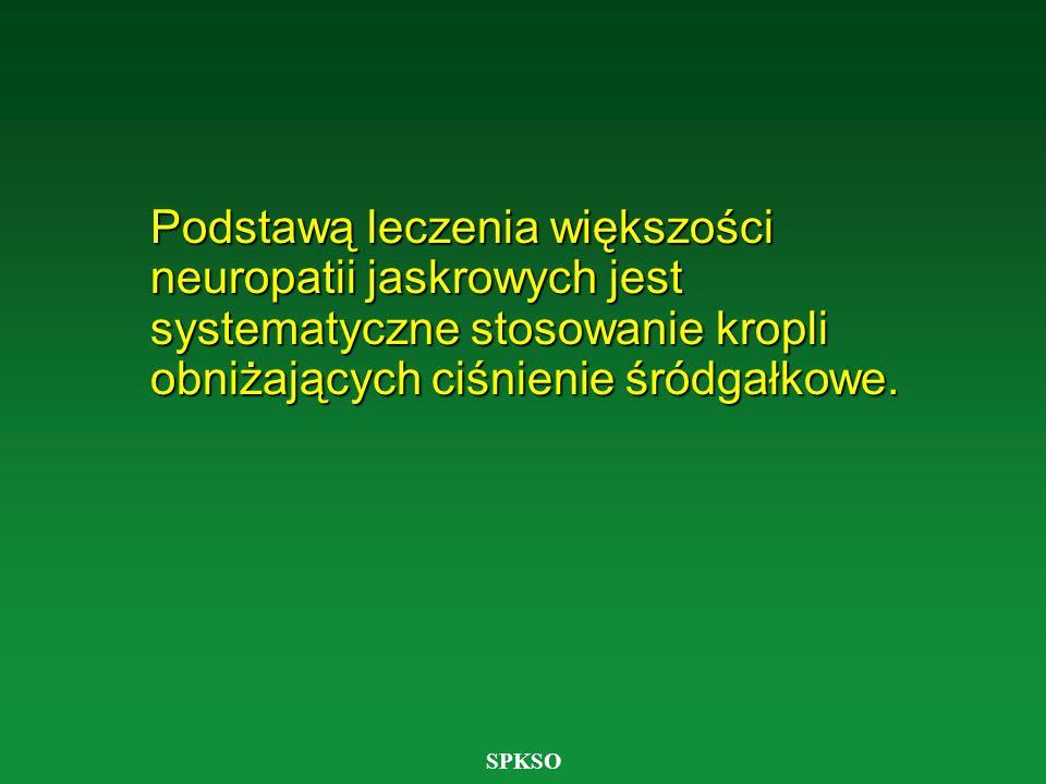 Podstawą leczenia większości neuropatii jaskrowych jest systematyczne stosowanie kropli obniżających ciśnienie śródgałkowe.