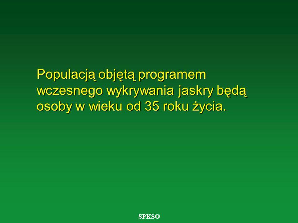 Populacją objętą programem wczesnego wykrywania jaskry będą osoby w wieku od 35 roku życia.