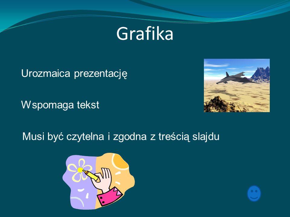 Grafika Urozmaica prezentację Wspomaga tekst