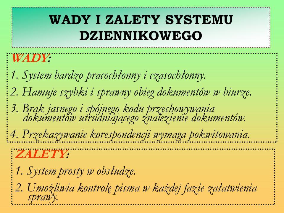 WADY I ZALETY SYSTEMU DZIENNIKOWEGO