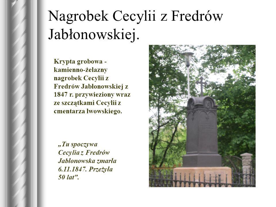 Nagrobek Cecylii z Fredrów Jabłonowskiej.