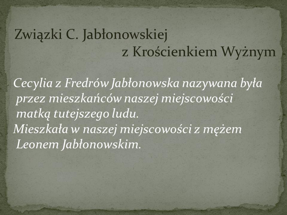 Związki C. Jabłonowskiej z Krościenkiem Wyżnym
