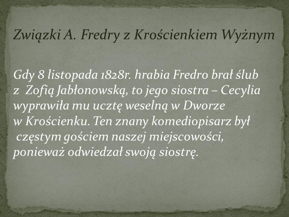 Związki A. Fredry z Krościenkiem Wyżnym