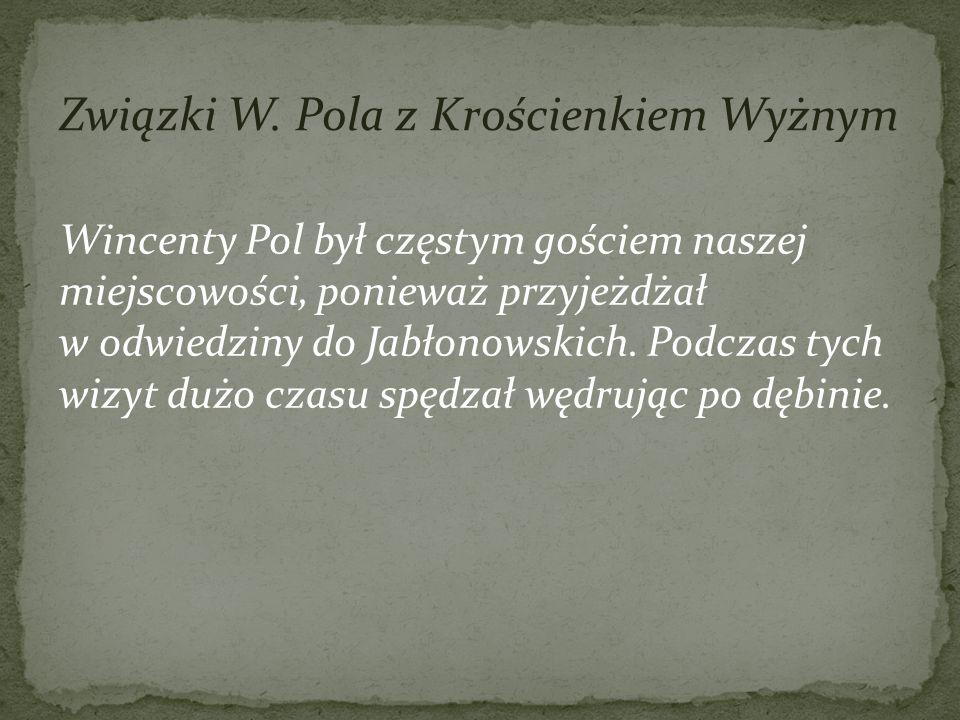 Związki W. Pola z Krościenkiem Wyżnym