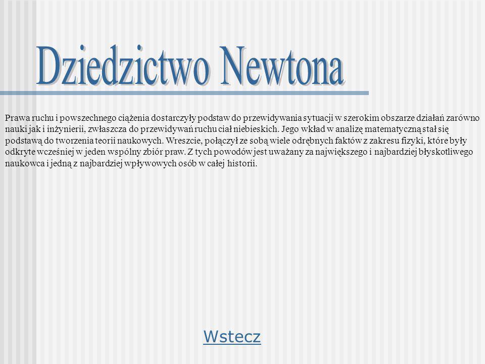 Dziedzictwo Newtona Wstecz