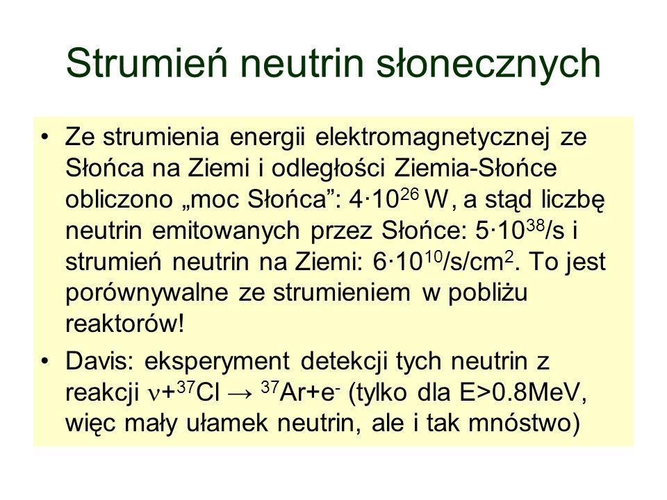Strumień neutrin słonecznych