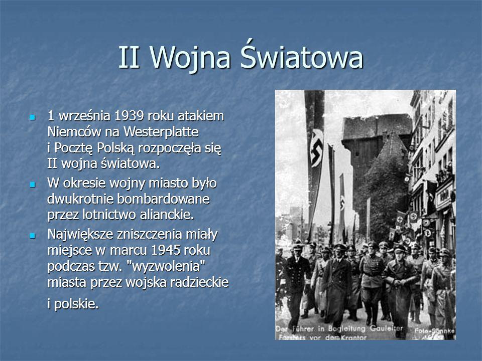 II Wojna Światowa 1 września 1939 roku atakiem Niemców na Westerplatte i Pocztę Polską rozpoczęła się II wojna światowa.