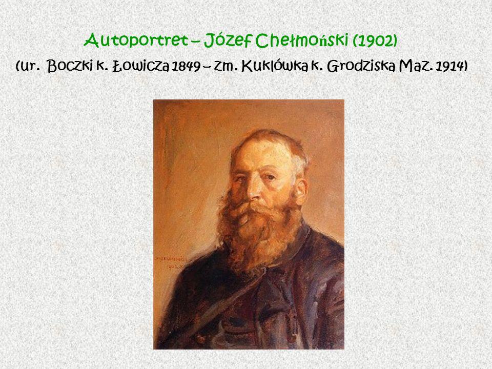 Autoportret – Józef Chełmoński (1902) (ur. Boczki k. Łowicza 1849 – zm
