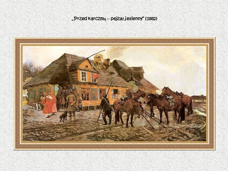 """""""Przed karczmą – pejzaż jesienny (1882)"""