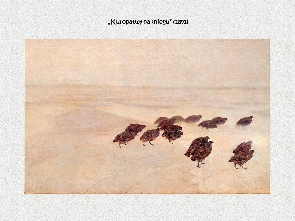 """Kuropatwy na śniegu (1891)"