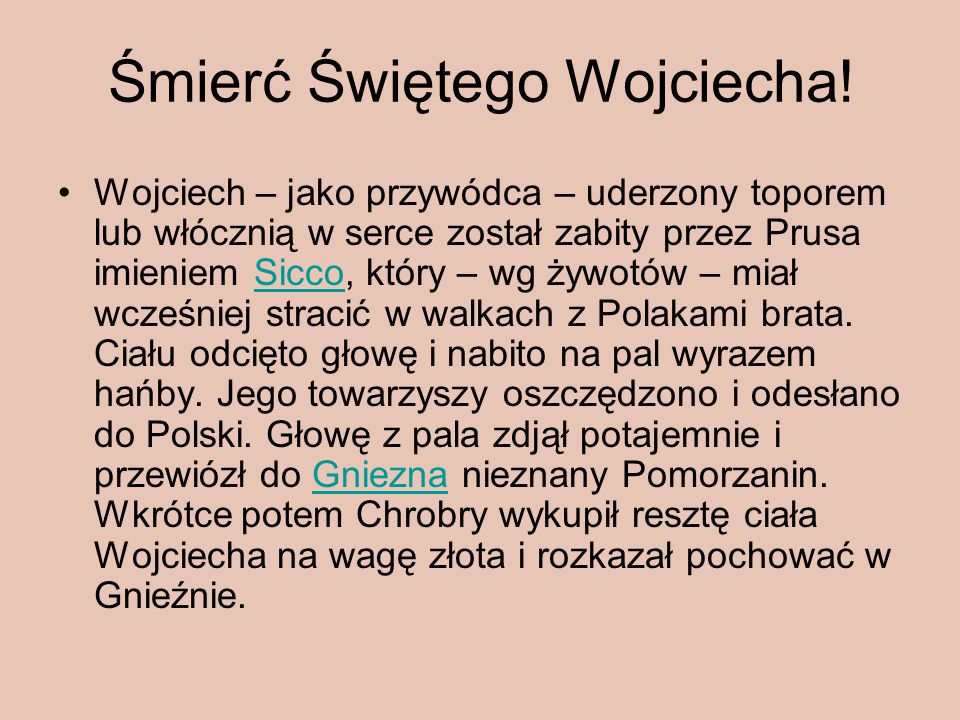 Śmierć Świętego Wojciecha!