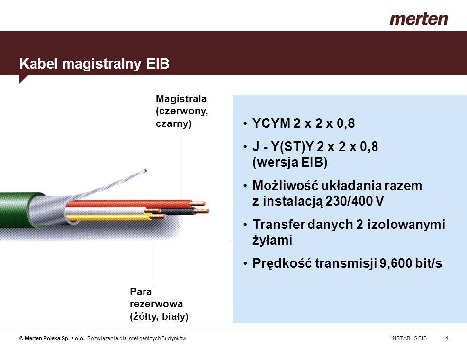 Kabel magistralny EIB YCYM 2 x 2 x 0,8