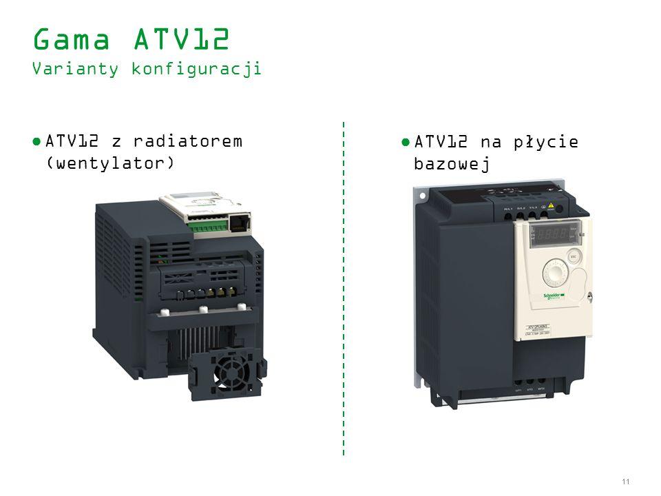 Gama ATV12 Varianty konfiguracji
