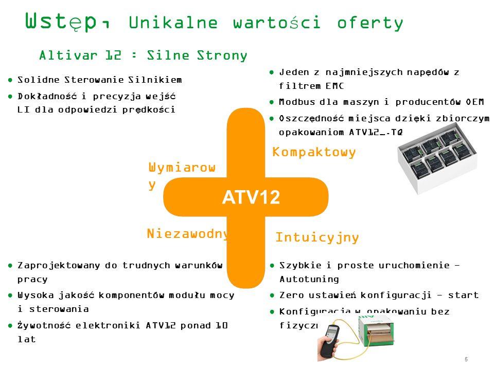 Wstęp, Unikalne wartości oferty Altivar 12 : Silne Strony