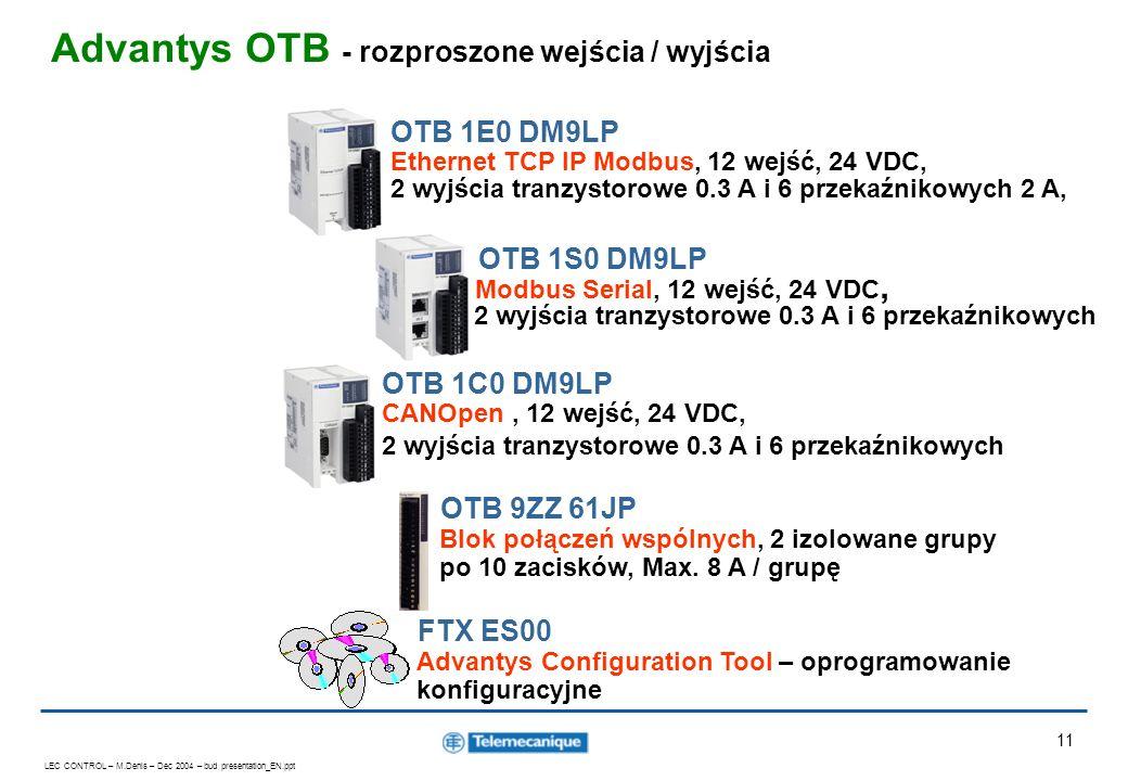 Advantys OTB - rozproszone wejścia / wyjścia