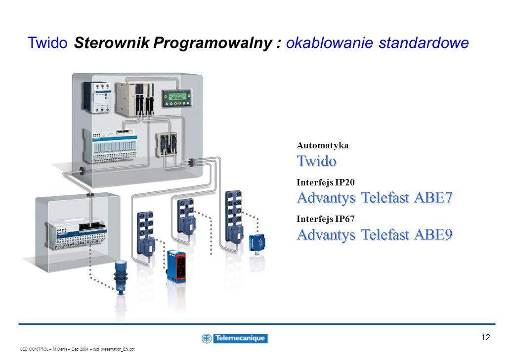 Twido Sterownik Programowalny : okablowanie standardowe