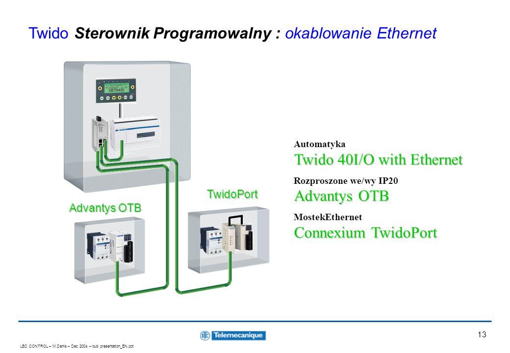 Twido Sterownik Programowalny : okablowanie Ethernet