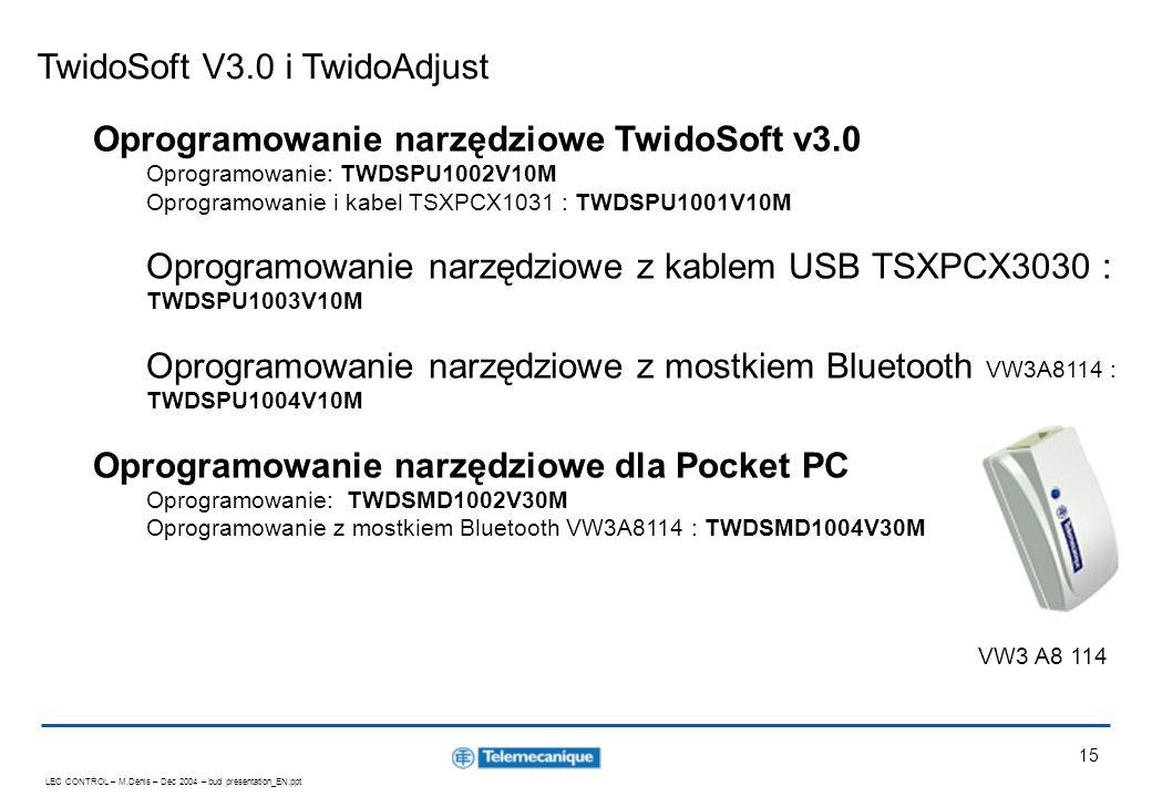 TwidoSoft V3.0 i TwidoAdjust
