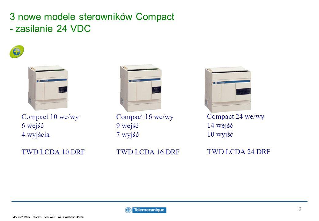 3 nowe modele sterowników Compact - zasilanie 24 VDC