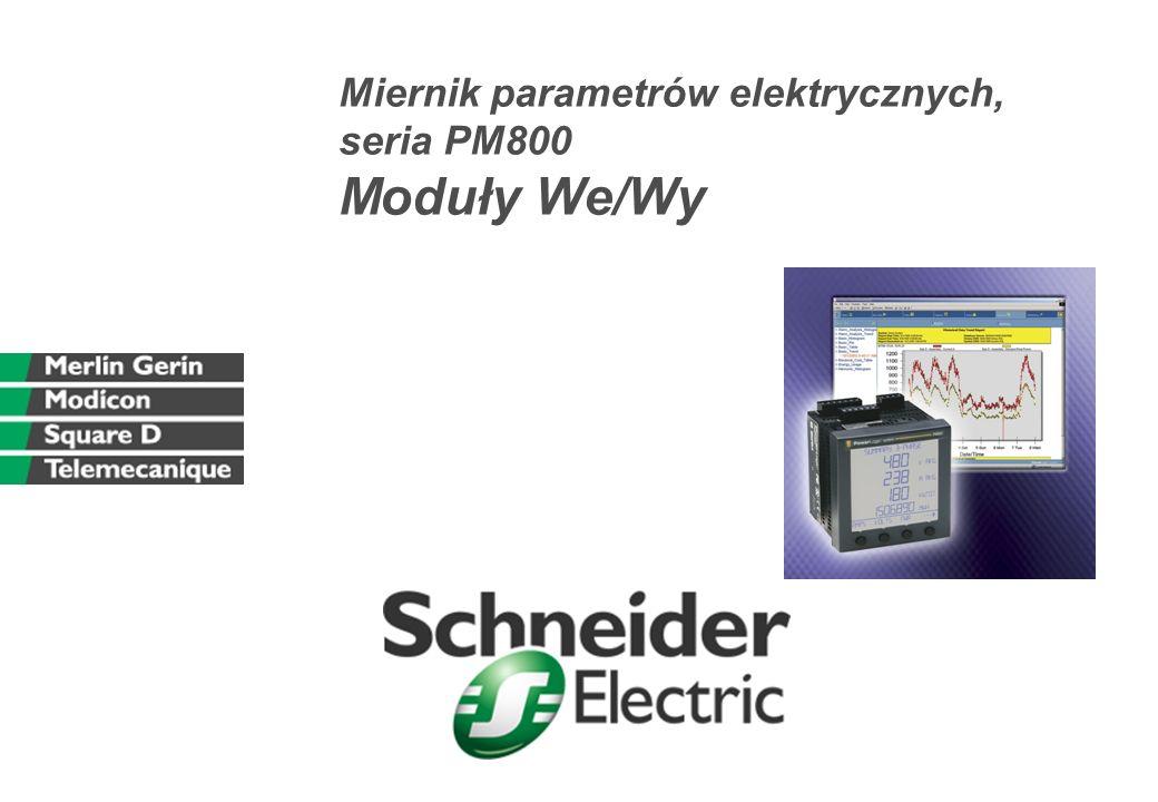 Miernik parametrów elektrycznych, seria PM800 Moduły We/Wy