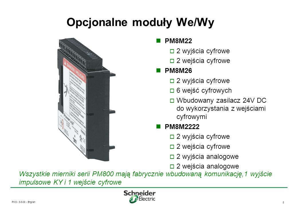 Opcjonalne moduły We/Wy