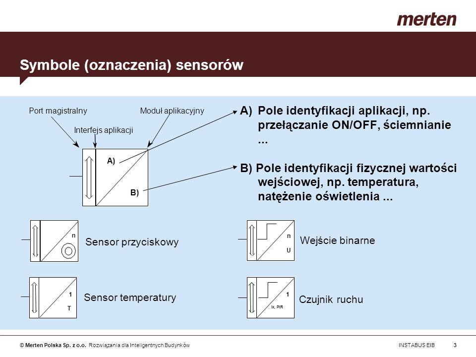 Symbole (oznaczenia) sensorów