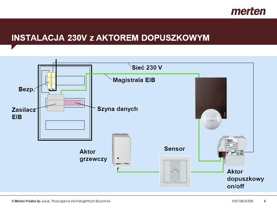 INSTALACJA 230V z AKTOREM DOPUSZKOWYM