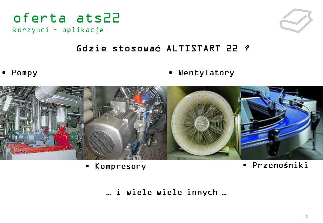 Gdzie stosować ALTISTART 22