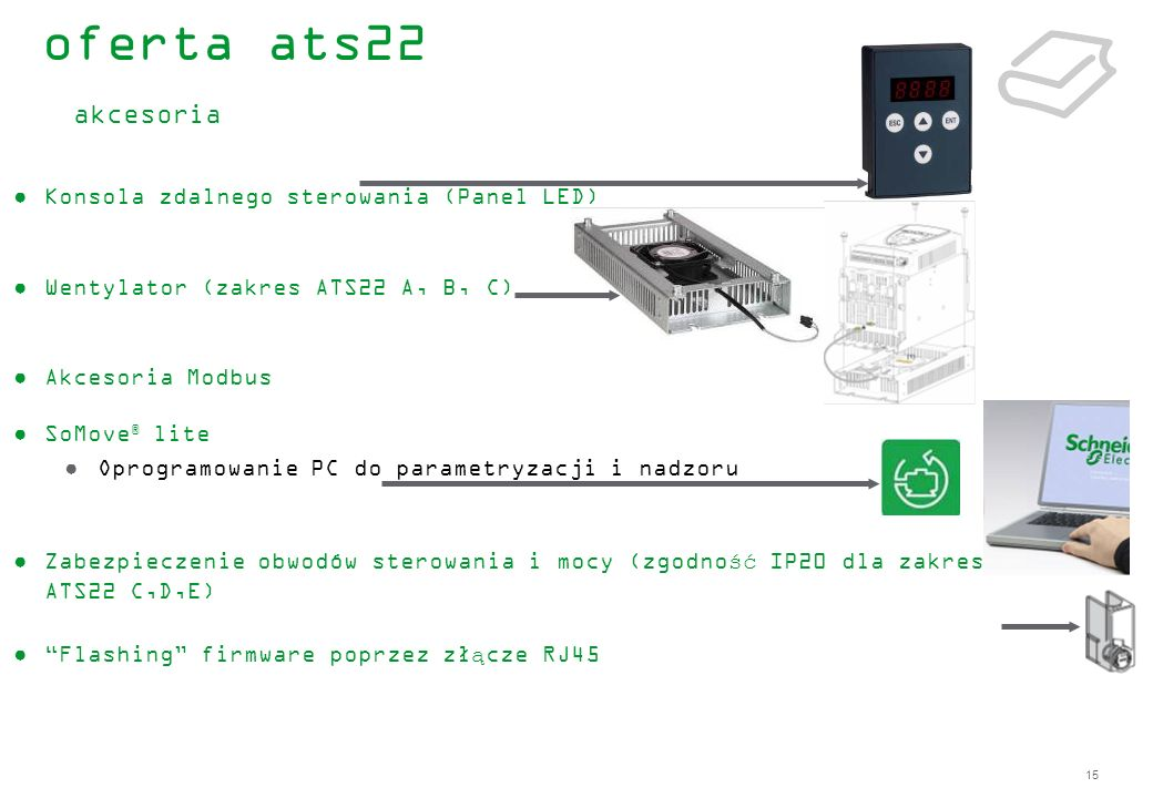 oferta ats22 akcesoria Konsola zdalnego sterowania (Panel LED)