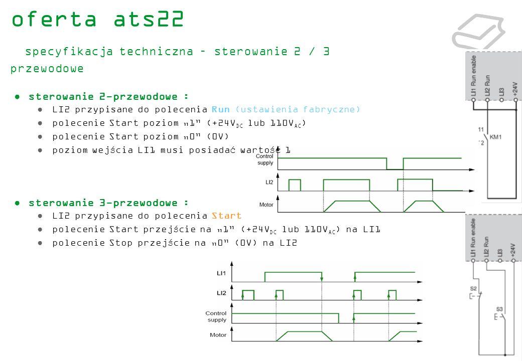 oferta ats22 specyfikacja techniczna – sterowanie 2 / 3 przewodowe