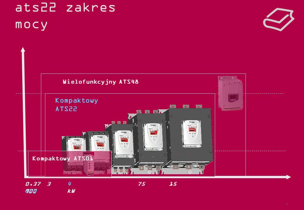 ats22 zakres mocy Kompaktowy ATS22 Wielofunkcyjny ATS48 optimized