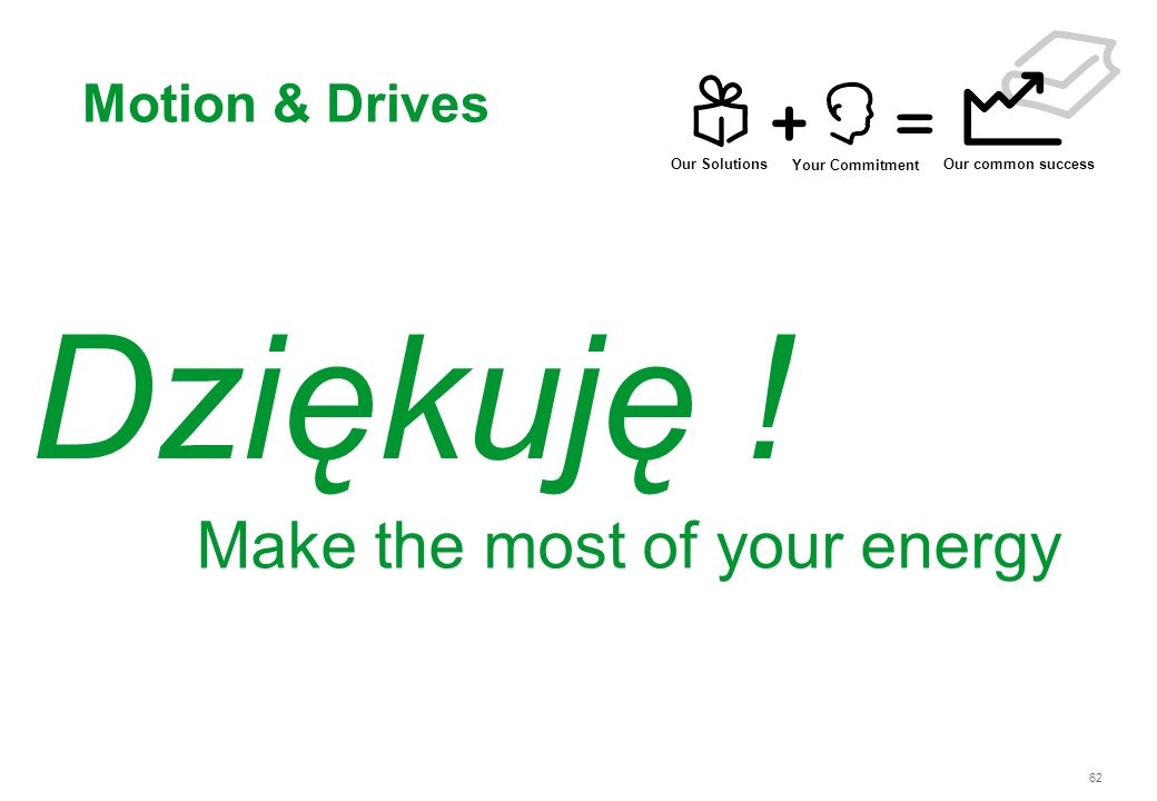 Dziękuję ! Make the most of your energy Motion & Drives Our Solutions