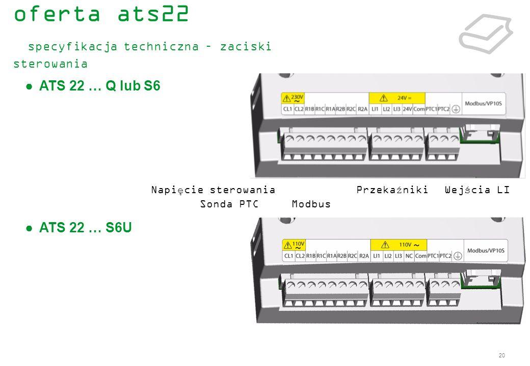 oferta ats22 specyfikacja techniczna – zaciski sterowania