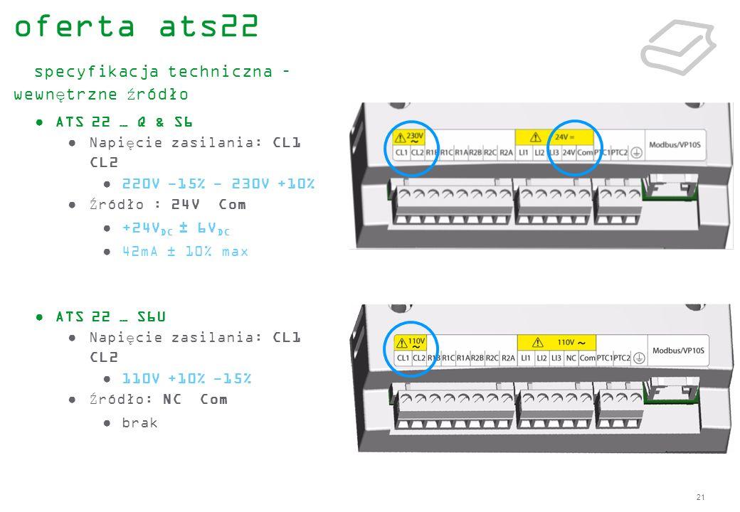 oferta ats22 specyfikacja techniczna – wewnętrzne źródło