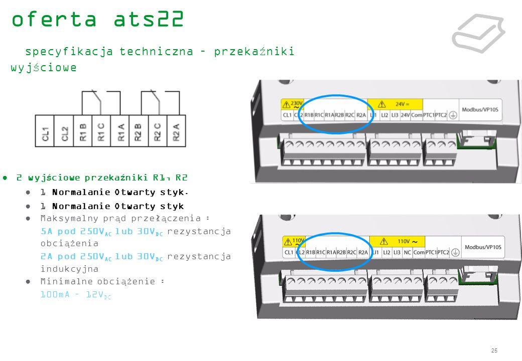 oferta ats22 specyfikacja techniczna – przekaźniki wyjściowe