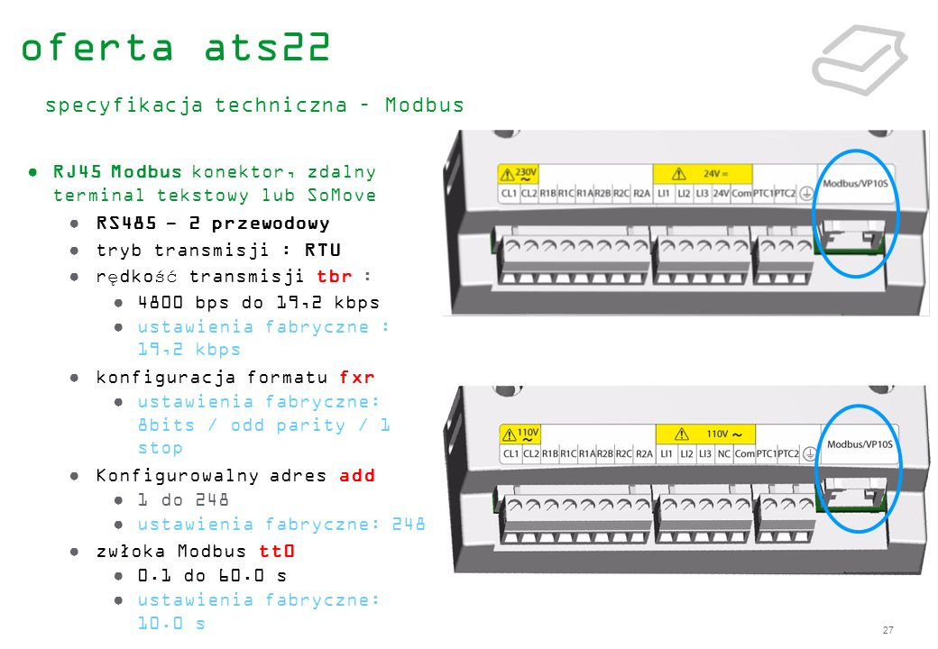oferta ats22 specyfikacja techniczna – Modbus