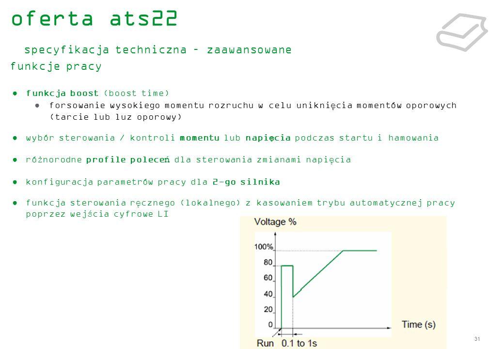 oferta ats22 specyfikacja techniczna – zaawansowane funkcje pracy