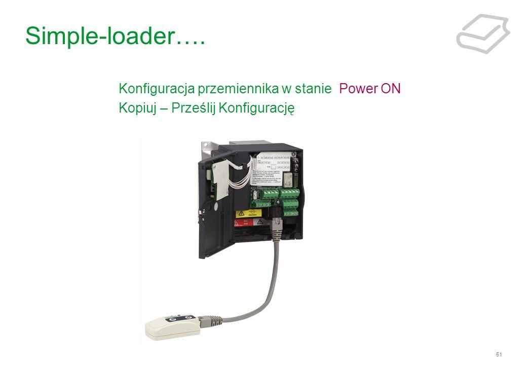 Simple-loader…. Konfiguracja przemiennika w stanie Power ON
