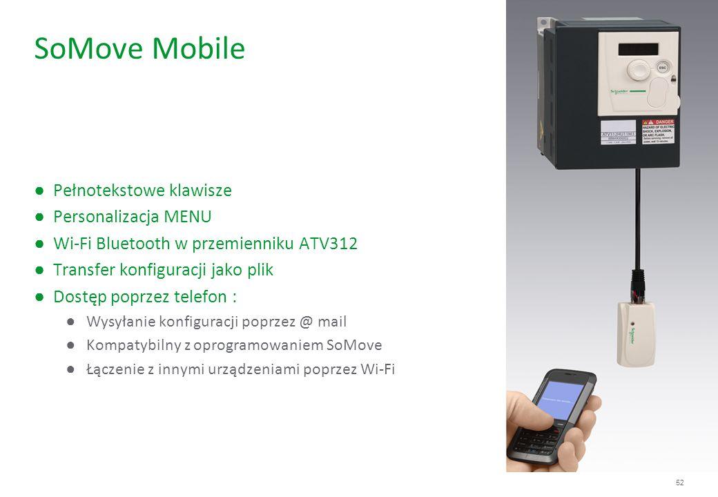 SoMove Mobile Pełnotekstowe klawisze Personalizacja MENU