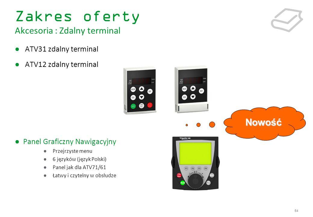 Zakres oferty Akcesoria : Zdalny terminal