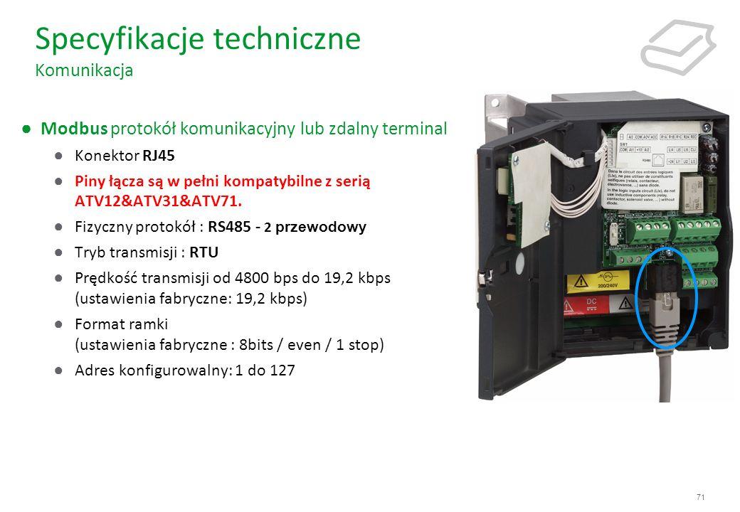 Specyfikacje techniczne Komunikacja